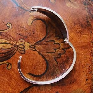 Vintage Jewelry - Vintage Mexican Silver Abalone Butterfly Bracelet